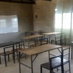 Leeg klaslokaal in Zambia